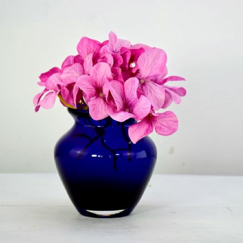 Glass Posy Vase Indigo Blue 12cm